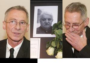 Na pohřeb Mariána Labudy přijel i maďarský herec János Ban alias Otík.