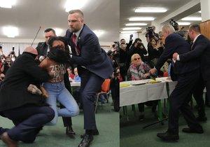 Útok na Zemana u voleb! Vyděšený prezident, nahá žena a akční ochranka!