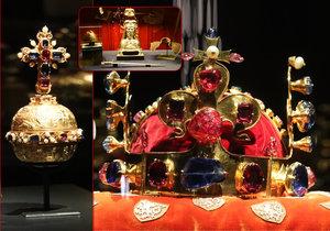 Součástí výstavy korunovačních klenotů je i svatováclavská výzbroj.