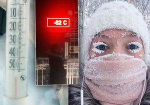 Nejchladnější místo na světě, v sibiřské vesnici naměřili minus 62 st. C, pak se rozbil teploměr.