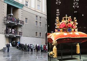 Na Hradě vystavili korunovační klenoty.