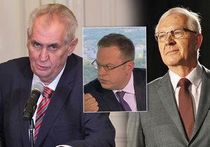Miloš Zeman se rozhoupal a přijde do politických debat. Košem ale dostal od protikandidáta Drahoše i moderátora Moravce