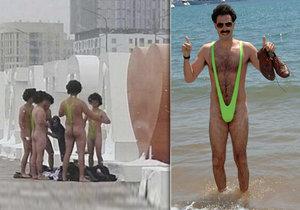 Češi se fotili v plavkách boratkách, dostali pokutu! Zatáhl to filmový Borat a šel s nimi na pivo.