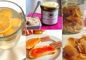 Zázvorový sirup, pomerančová marmeláda nebo zapečená jablka s marcipánem. Po tom všem se olíznete a ještě se zahřejete.