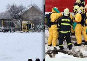 Na Příbramsku havaroval kamion s chemikáliemi: Místní museli evakuovat kvůli chloru.