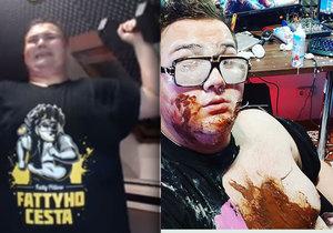 Obézní hvězda YouTube FattyPillow hubne! Tvrdou dietu už ale porušil.