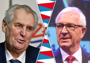 Miloš Zeman a Jiří Drahoš svádějí těsný souboj, ukazuje další průzkum.