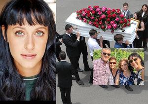 Emotivní pohřeb herečky (†29), které autonehoda zabila celou rodinu! Slzy a bílé holubice