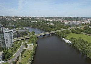 Vizualizace rekonstrukce Libeňského mostu v Praze.