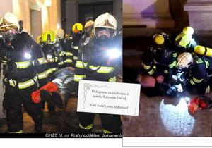 Rodina jednoho ze zachráněných turistů hasičům osobně poděkovala.