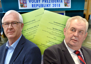 Češi si ve volbách vybírali mezi Jiřím Drahošem a Milošem Zemanem.