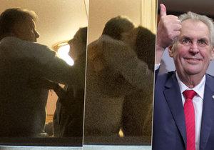 Objímačka poradce Martina Nejedlého a prezidentovy dcery Kateřiny. I to se dělo za zavřenými dveřmi Zemanova štábu.