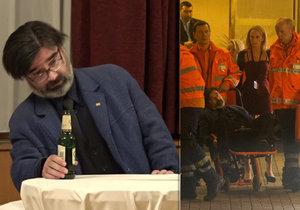Opilý novinář Milan Rokytka ve štábu Miloše Zemana