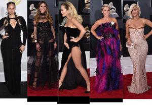 Zpěvačky na hudebních cenách Grammy 2018 zastínila Rita Ora se svým proklatě vysokým rozparkem.