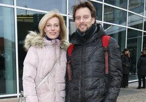 Kristina Kloubková se svým přítelem Václavem Kunešem, tanečníkem.