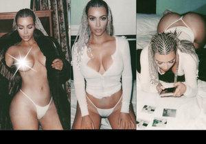 Kim Kardashian ukázala prsa.