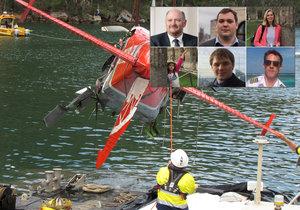 Na palubě hydroplánu zemřel britský milionář se svou snoubenkou, její dcerou a svými dospělými syny a pilotem.
