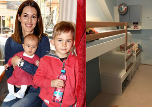 Lucie Křížková nechala předělat pokoj svých dětí.
