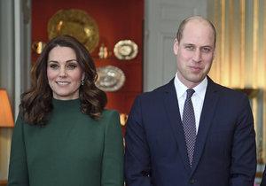 Princ William a vévodkyně Kate ve Švédsku