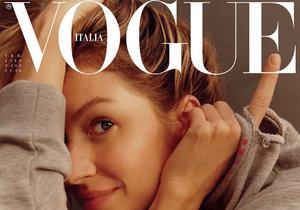 Gisele Bündchen (37) pro italský Vogue. Fotky vznikaly doma o nedělním ránu, bez make-upu a česání.