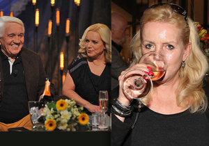 Léčená alkoholička Krampolová před kamerou: Záhada vypitého šampusu!