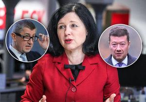 Jourová o české politice