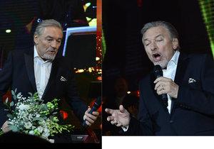 Karel Gott vystoupil na Českém plese 2018.
