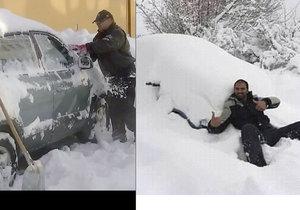 Chorvaty zaskočily haldy sněhu.