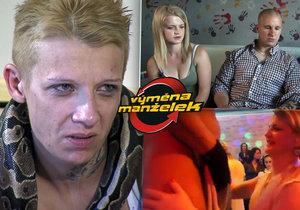 Sabina z drsné Výměny manželek: Mačkala hady v pornu! Obyčejná brigáda, hájí se.