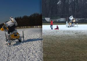 Na Vypichu začala fungovat sněžná děla, do terénu vyrazili první boboví nadšenci.