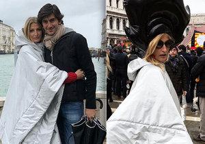 Tereza Maxová s manželem v Benátkách