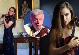 Dcera Jaroslava Svěceného jde ve stopách svého otce houslisty.