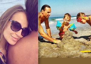 Roman Vojtek s Vraspírovou letos už podruhé u moře! Do ráje se vrátili i s dětmi.