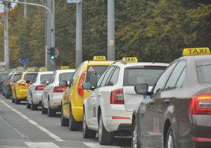 Stávka taxikářů začne 8. února v 10 hodin na Strahově.