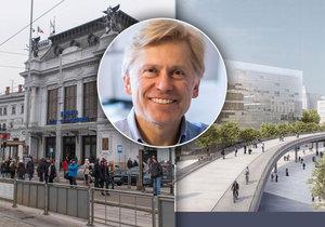 Hlavní městský architekt Michal Sedláček v exkluzivním rozhovoru pro Blesk. cz říká, že nejvýhodnější variantou pro všechny je přestěhování hlavní stanice k řece.