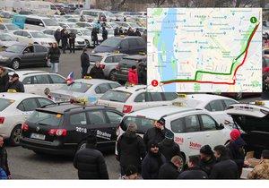 Taxikáři hrozí, že zablokují magistrálu, pokud jim vláda nevyjde vstříc.