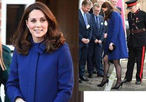 Těhotná vévodkyně Kate: Špatný krok kvůli podpatku!