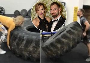 Manželé Reindersovi trénovali s pneumatikou.