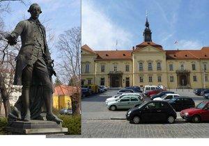 Současná podoba Dominikánského náměstí v Brně. Po opravách má získat historickou podobu, zmizí odsud parkoviště a místo by tu mohla najít socha Josefa II.