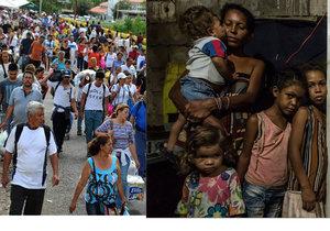 Lidé odcházejí ze zbídačené Venezuely do Kolumbie a Brazílie.