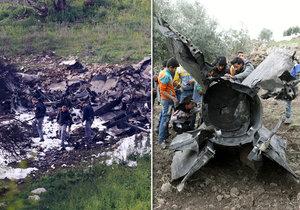 Napětí mezi Izraelem, Sýrií a Íránem stoupá. Kusy zneškodněné syrské rakety.