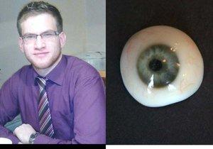 Student strojírenství na brněnské VUT Ondřej Vocílka (23) vymyslel novou metodu výroby očních protéz. Sám přitom přišel v dětství o zrak na levém oku.