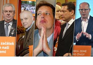 Pět mužů – žádná žena. Co dnes dělají bývalí předsedové ČSSD a co je smetlo z křesel?
