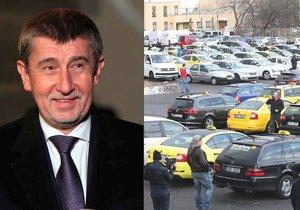 Andrej Babiš (ANO) vyzval společnosti Uber a Taxify, aby dodržovaly zákony a používaly licencované taxikáře.