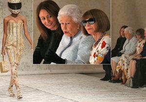 Královna Alžběta II. se zúčastnila Týdne módy.