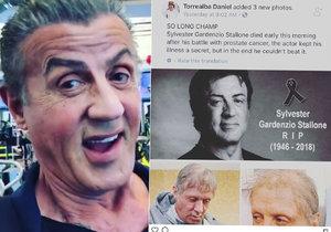 Po internetu se šíří nechutný hoax o smrti legendárního Stalloneho.