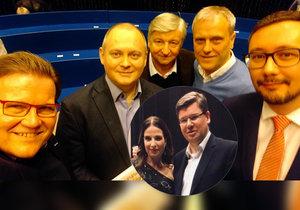 Škromach fotil selfie v Máte slovo, Pospíšil se s Jílkovou zvěčnil také.