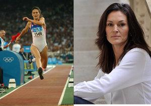 Šárka Kašpárková olympijská medailistka a mistryně světa v trojskoku.