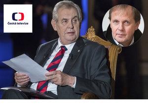 Miloš Zeman se opět opřel do České televize, její ředitel Dvořák se brání.