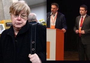 Exposlankyně Jana Volfová kritizovala ČSSD.